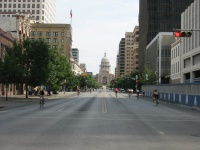 Looking down Congress towards The Capitol