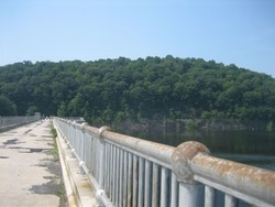Top of the Croton dam, supplying water to NYC