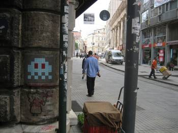 Space invader in Montmartre, Paris
