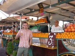 Orange juice at Jemaa El Fna