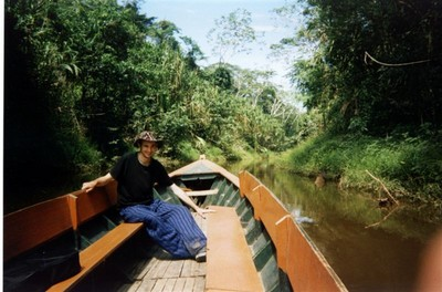 And relaxing on a boat on a tributory of the Madre de Dios river, near Puerto Maldonado.