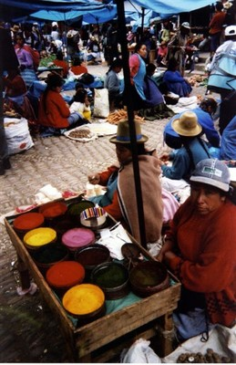 Photo from a market near Cusco